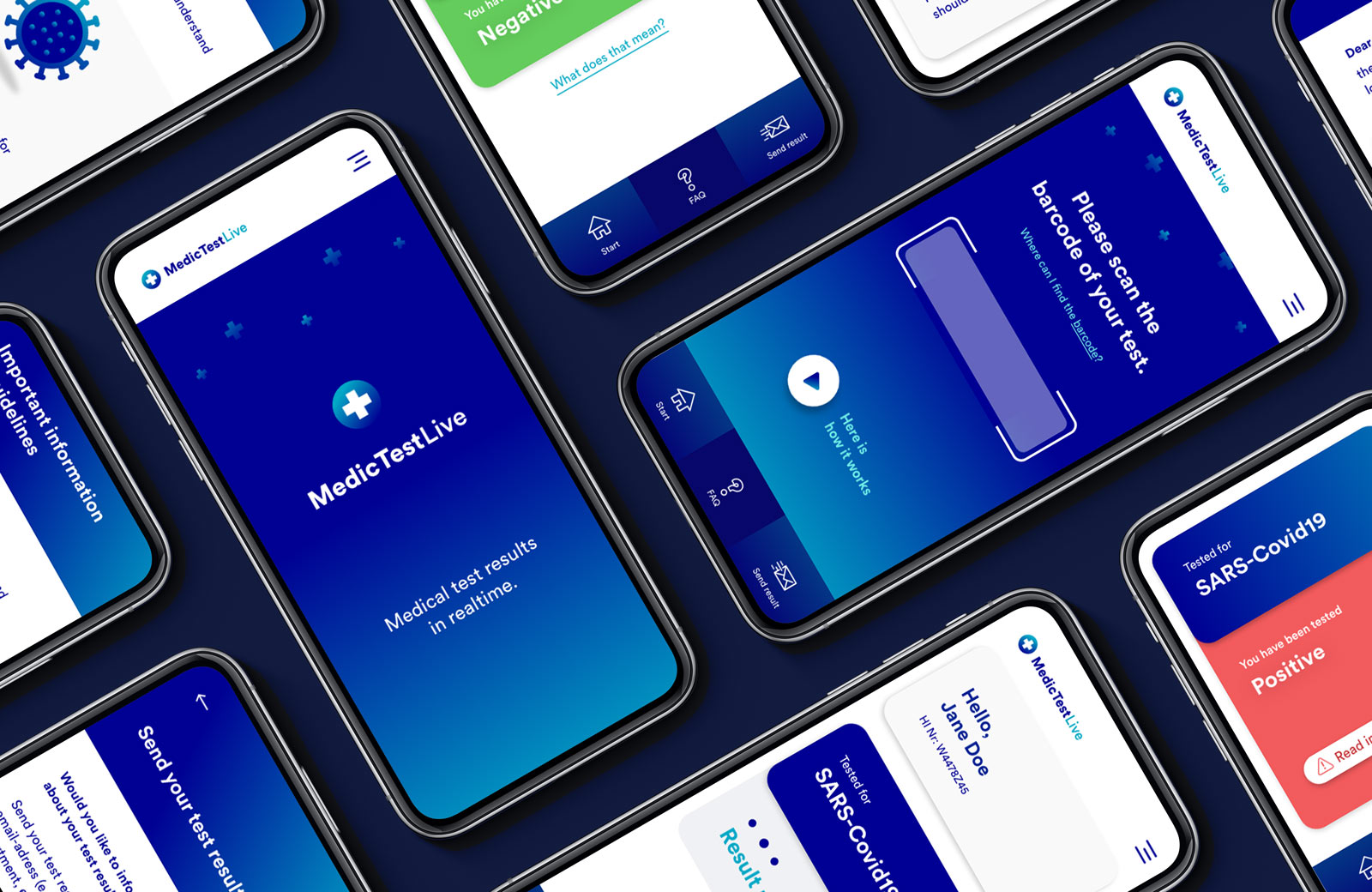 App Design Medical Test Corona